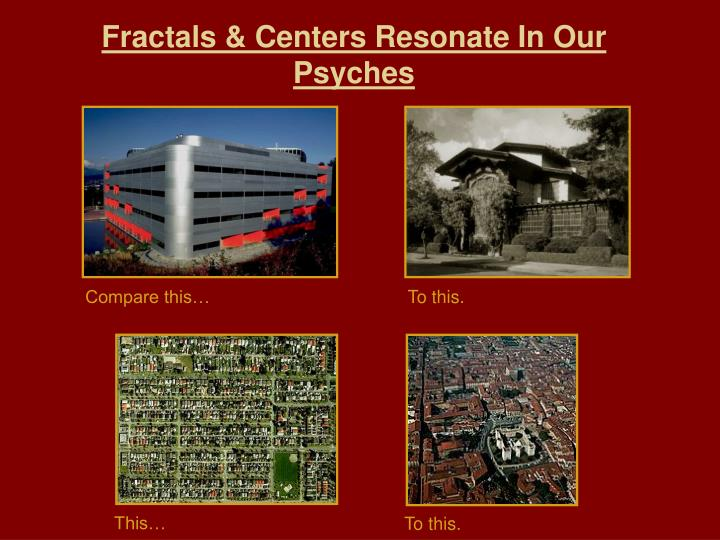Fractals & Centers Resonate In Our Psyches