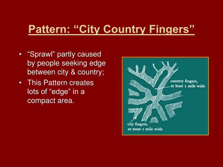 """Pattern: """"City Country Fingers"""""""