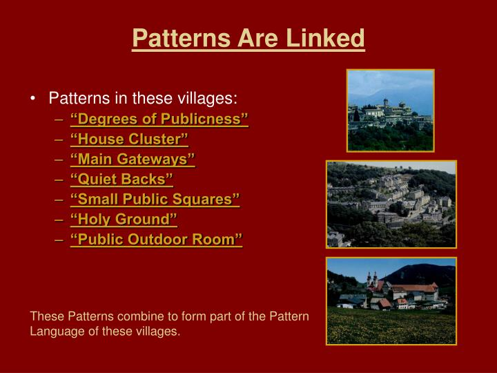 Patterns Are Linked