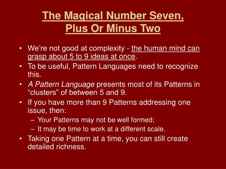 The Magical Number Seven,