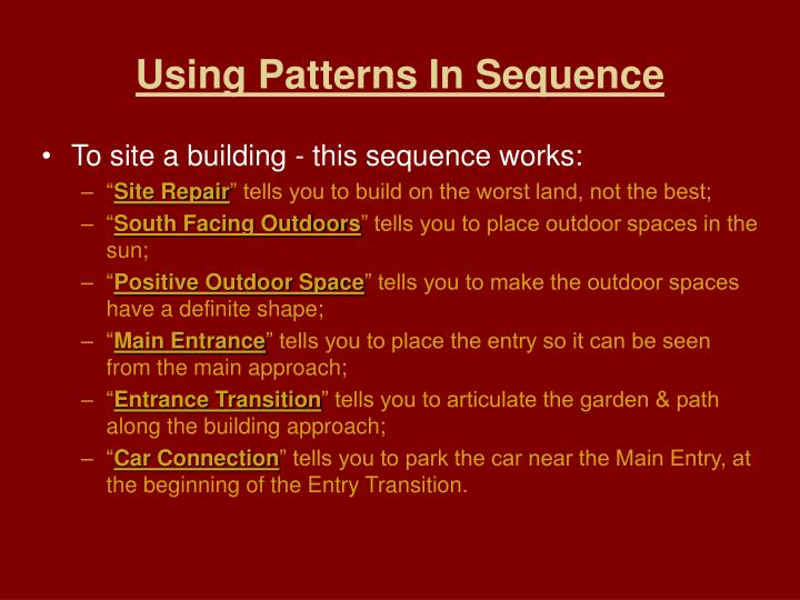 Using Patterns In Sequence
