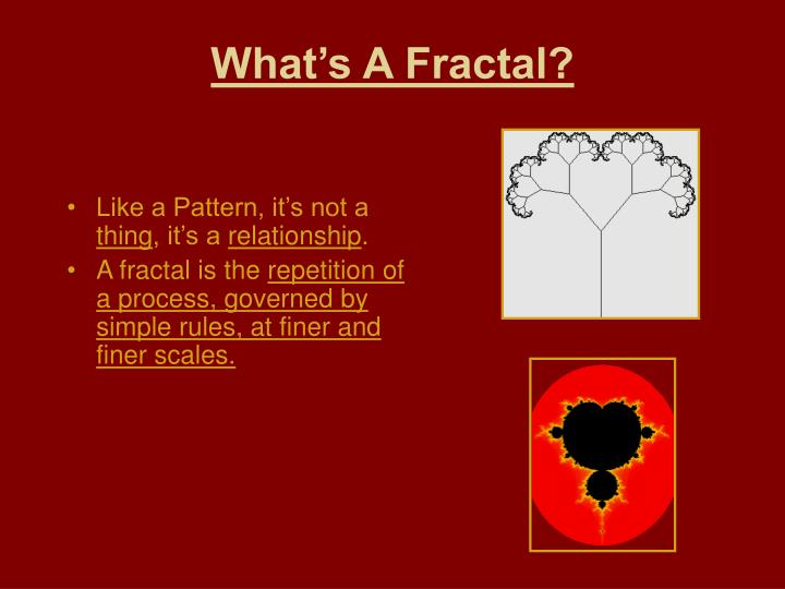 What's A Fractal?
