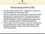 text encoding initiative tei
