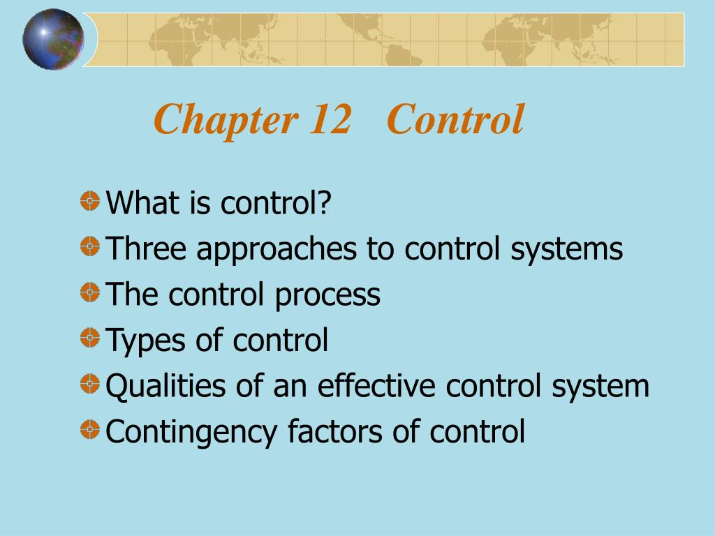 chapter 12 control