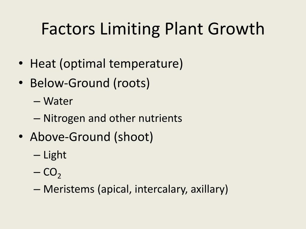 Factors Limiting Plant Growth