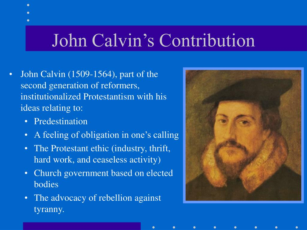 John Calvin's Contribution