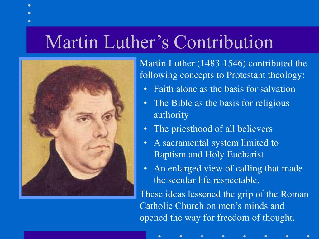Martin Luther's Contribution