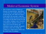 medieval economic system