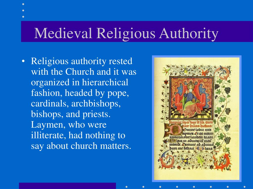 Medieval Religious Authority
