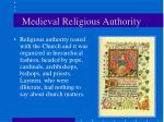 medieval religious authority