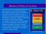modern political system
