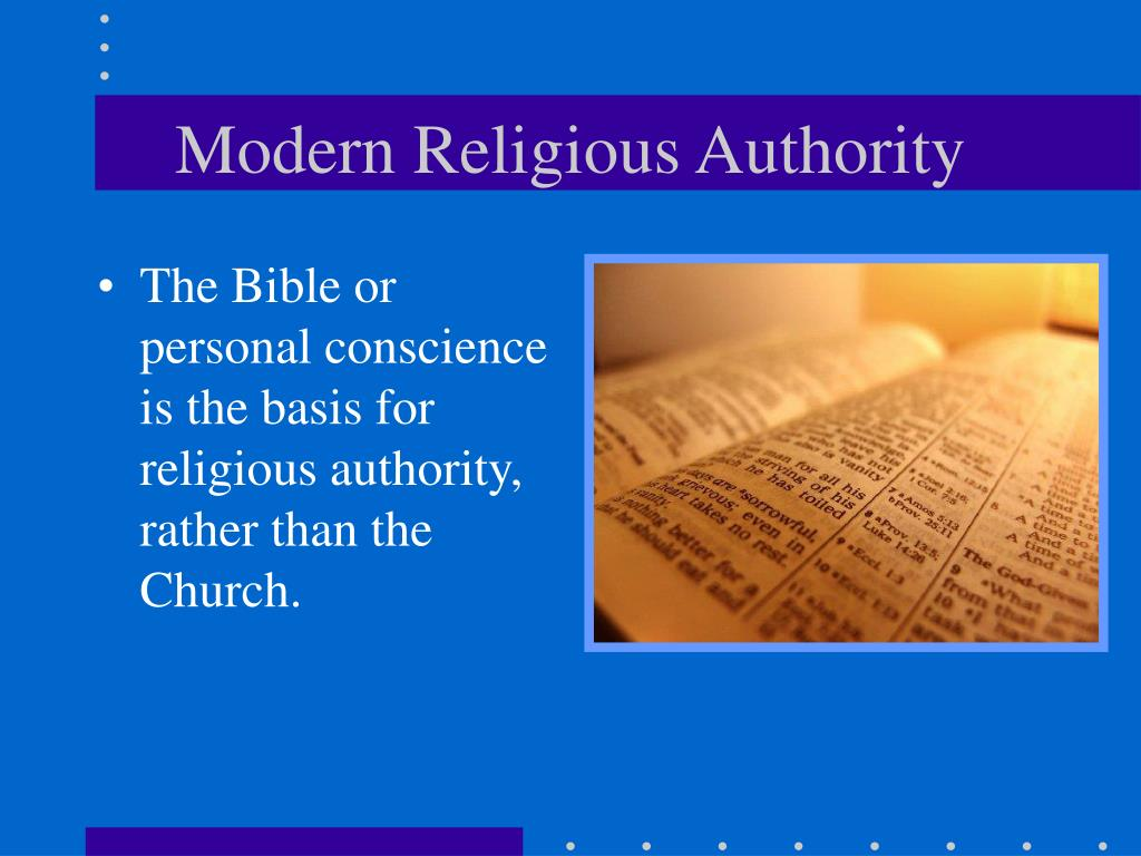 Modern Religious Authority