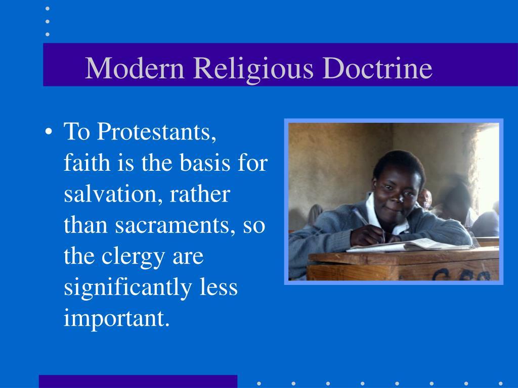 Modern Religious Doctrine