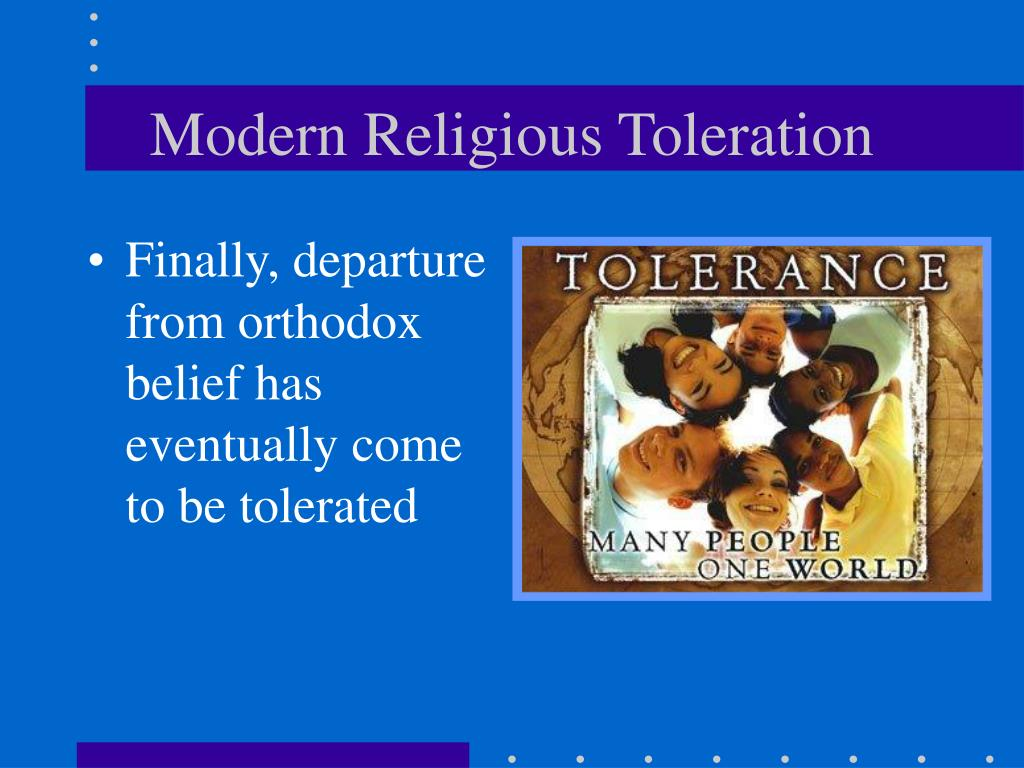 Modern Religious Toleration