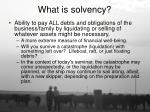 what is solvency
