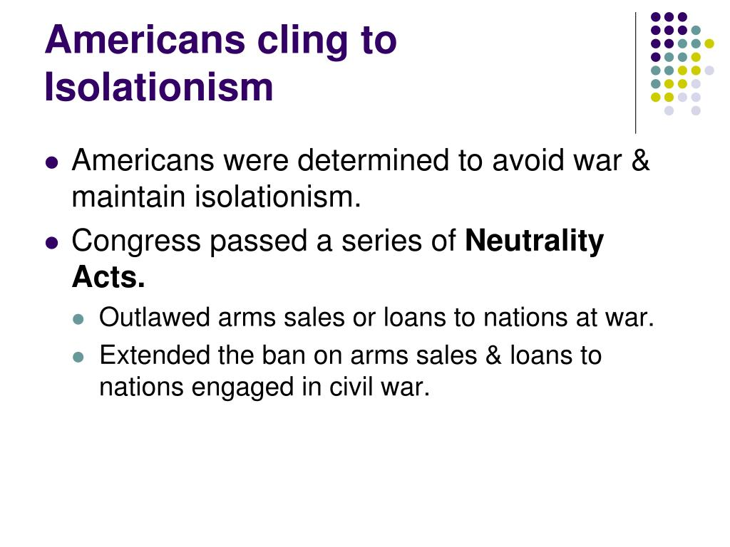 Americans cling to Isolationism