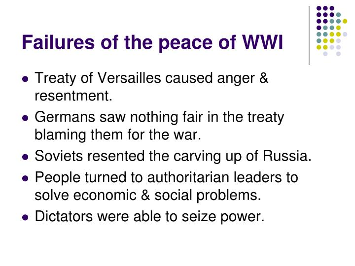 Failures of the peace of wwi