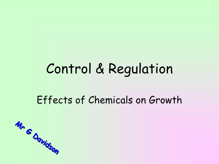 Control regulation l.jpg