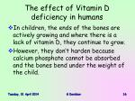 the effect of vitamin d deficiency in humans16
