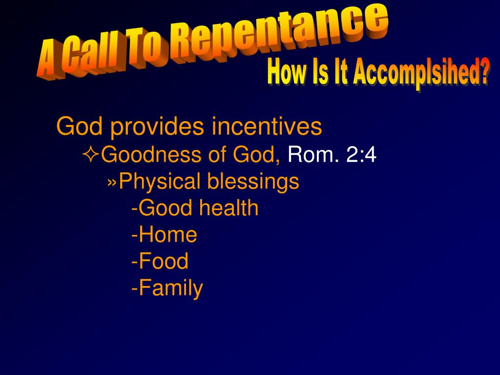 A Call To Repentance