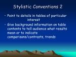 stylistic conventions 2