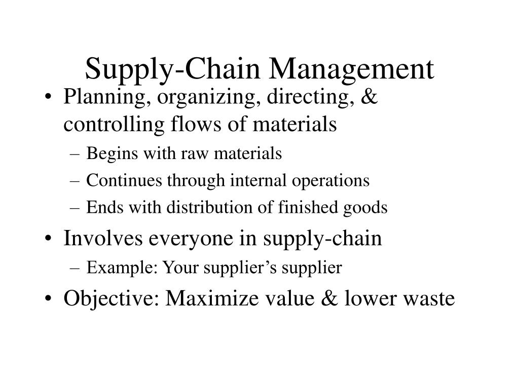 Supply-Chain Management