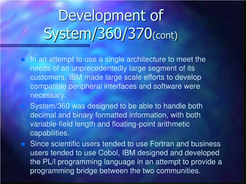Development of System/360/370