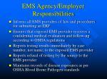 ems agency employer responsibilities