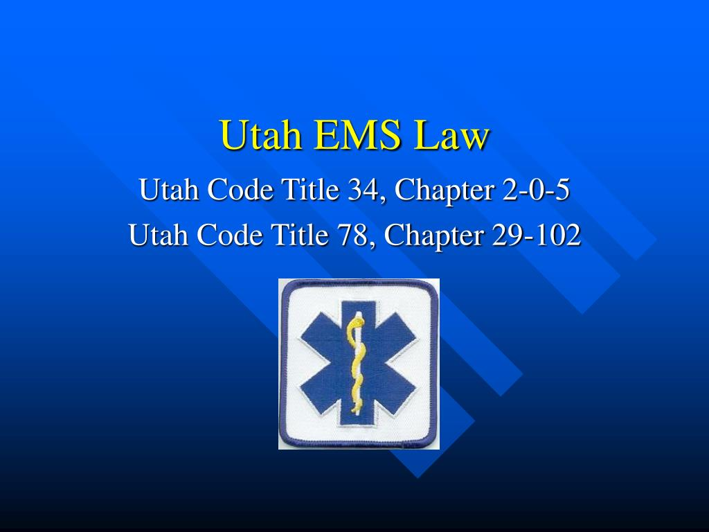 utah ems law