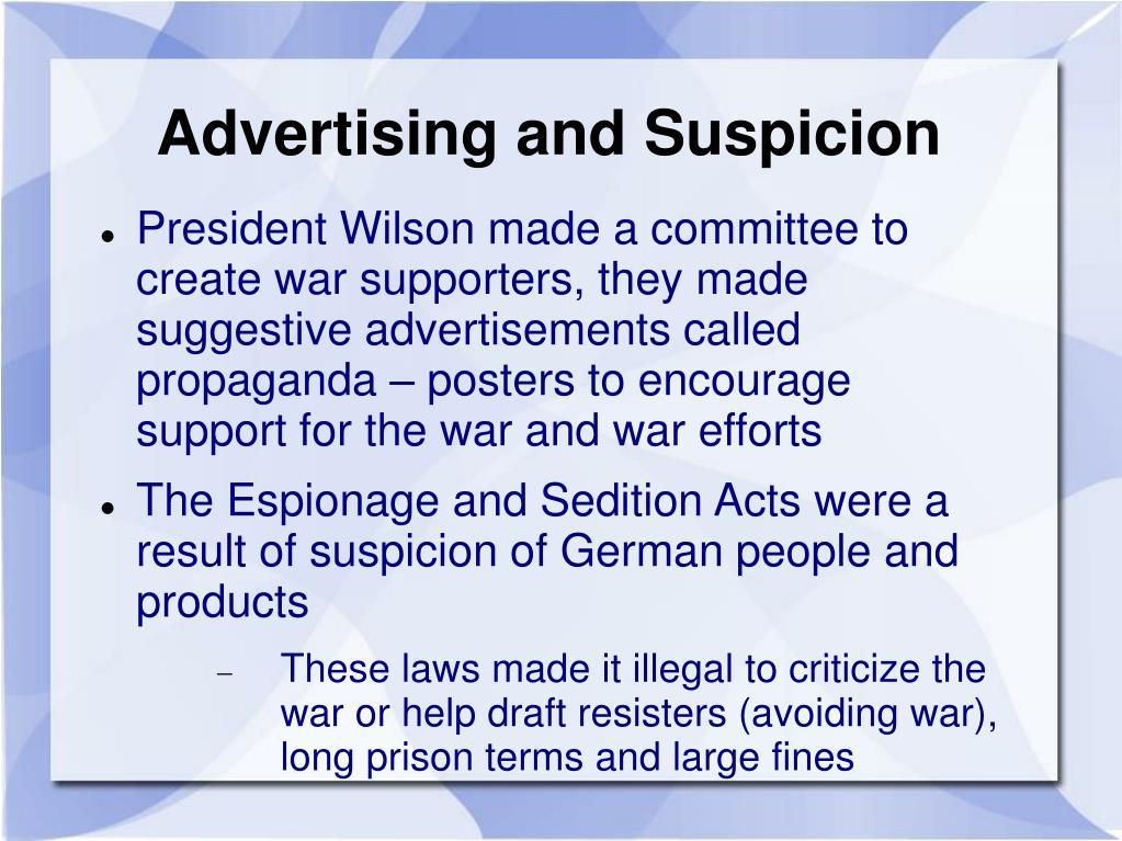 Advertising and Suspicion