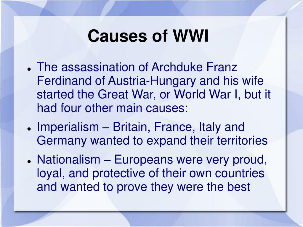 Causes of WWI