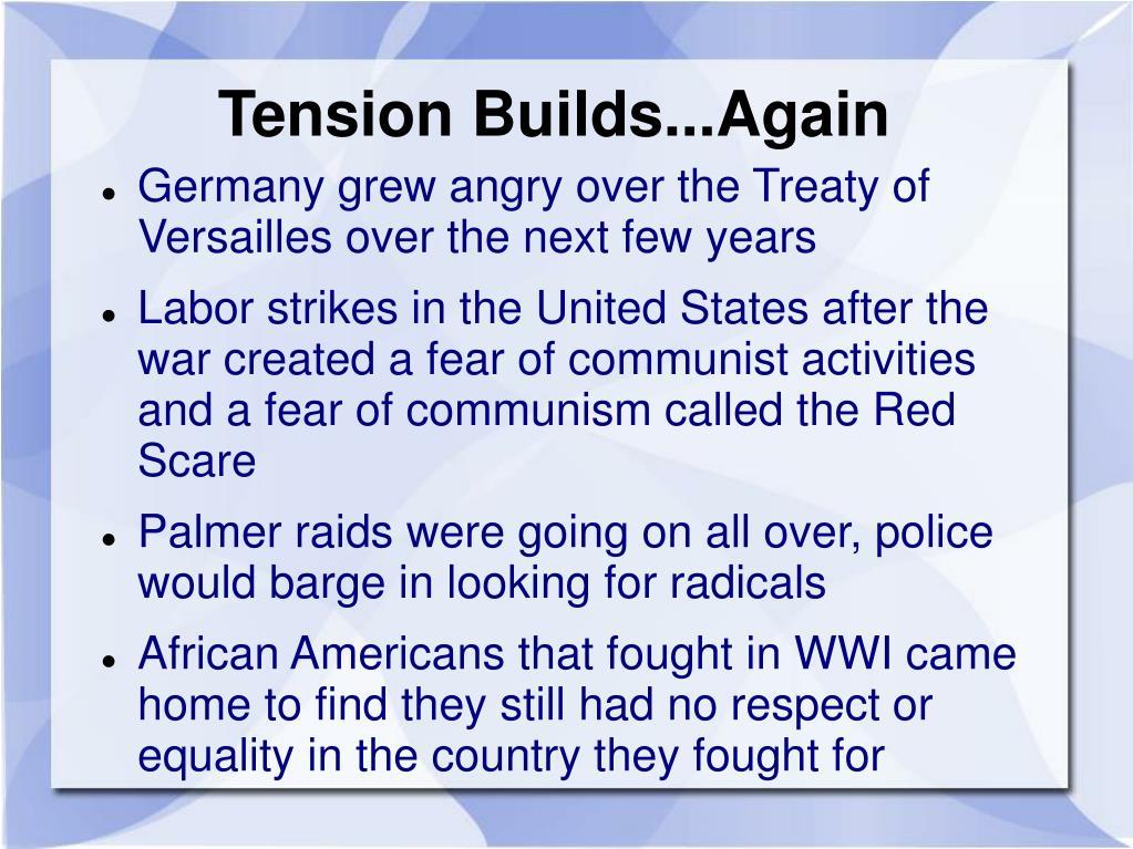 Tension Builds...Again