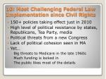 10 most challenging federal law implementation since civil rights