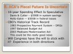8 aca s fiscal future is uncertain