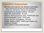 essential resources