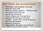 ten titles the architecture
