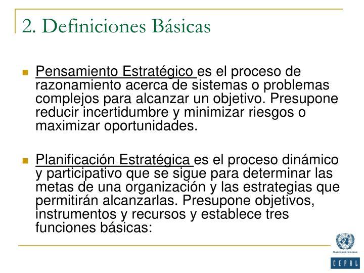 2. Definiciones Básicas