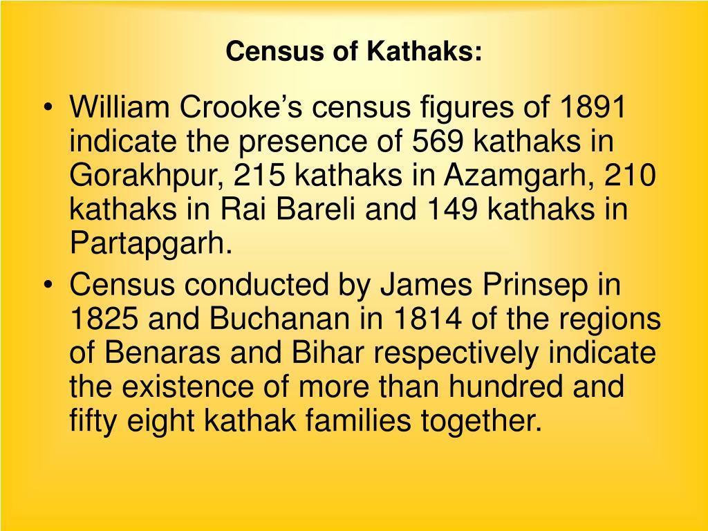 Census of Kathaks: