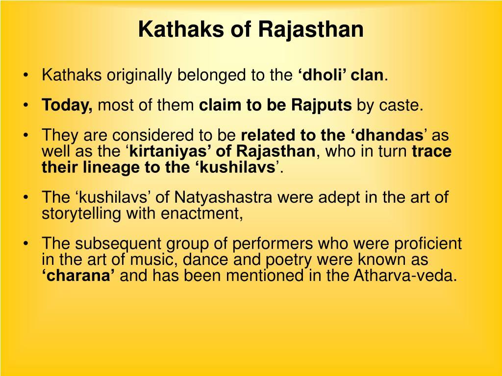 Kathaks of Rajasthan