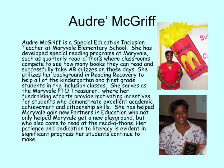 Audre' McGriff