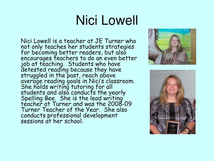 Nici Lowell