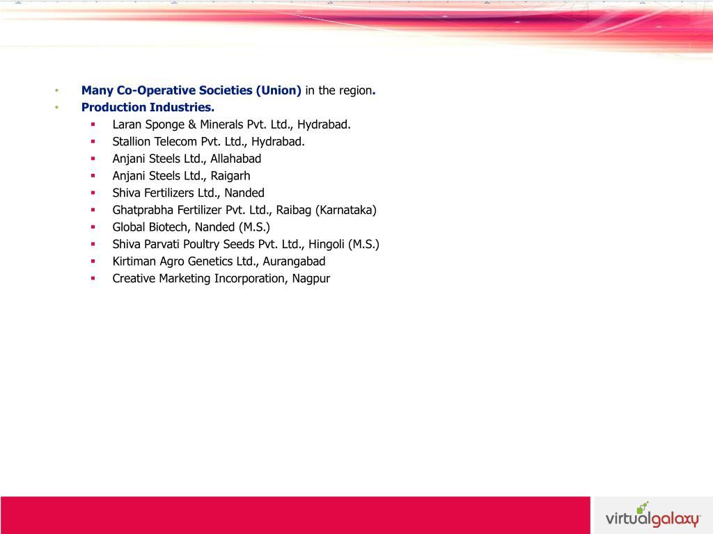Many Co-Operative Societies (Union)