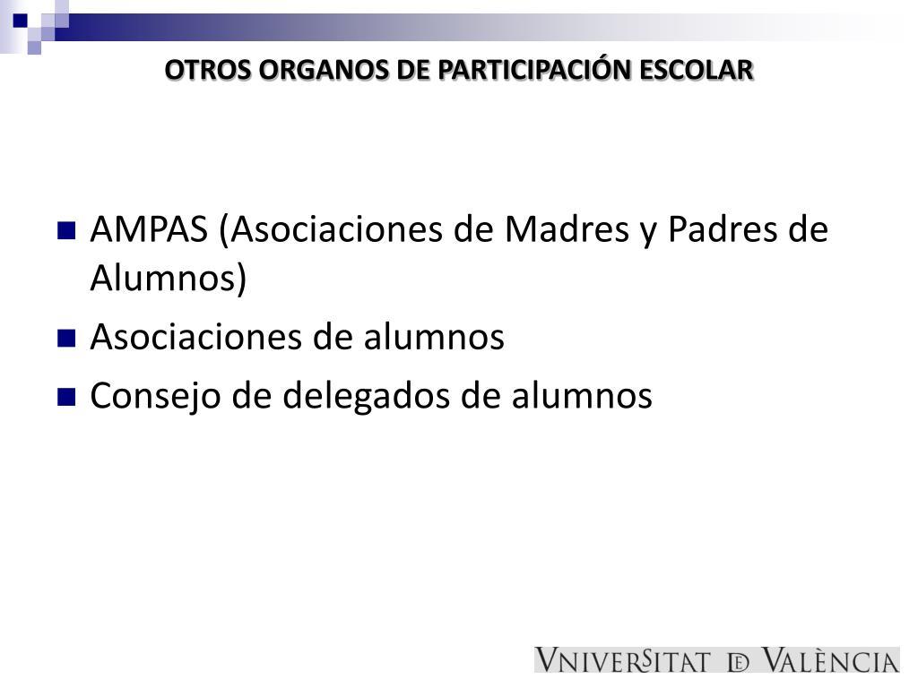 OTROS ORGANOS DE PARTICIPACIÓN ESCOLAR