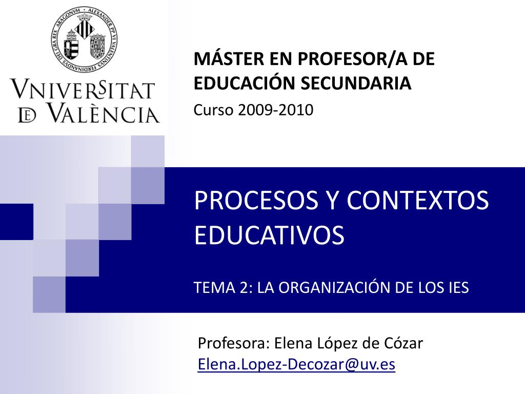 MÁSTER EN PROFESOR/A DE EDUCACIÓN SECUNDARIA