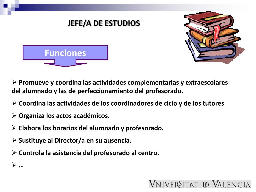 JEFE/A DE ESTUDIOS