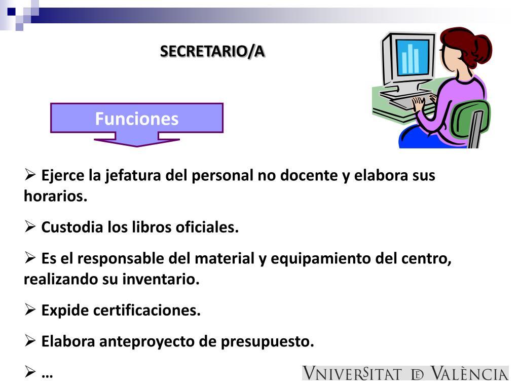 SECRETARIO/A
