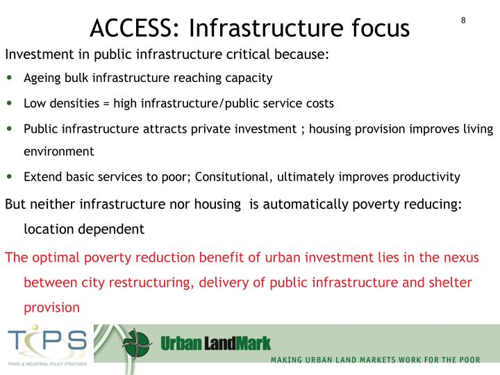 ACCESS: Infrastructure focus