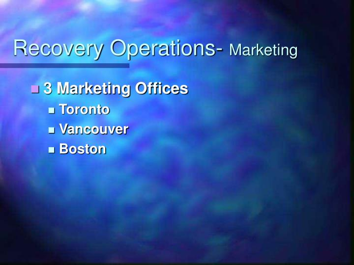Recovery Operations-