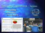recovery operations services