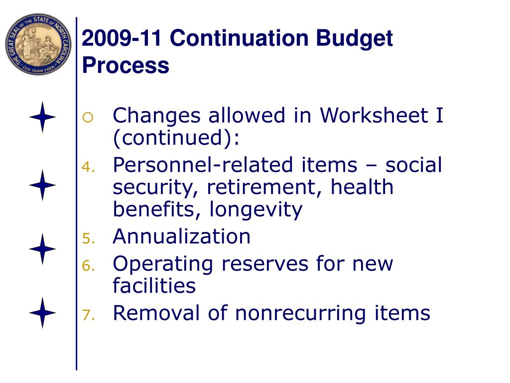 2009-11 Continuation Budget Process
